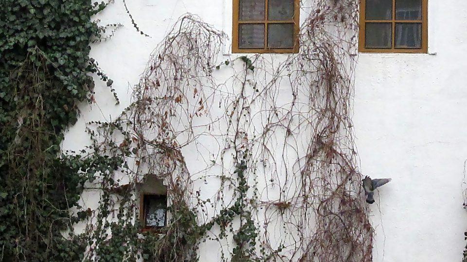 Boční pohled na budovu Kabaretu Špaček