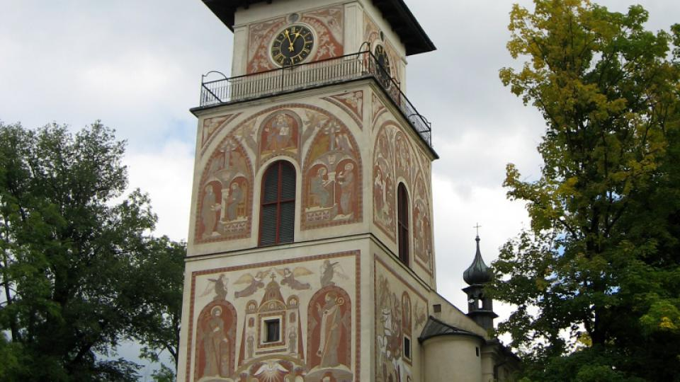 Dominantou Vratislavova náměstí v Novém Městě na Moravě je farní kostel svaté Kunhuty