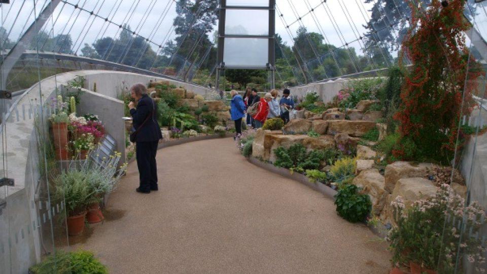 Alpinkový skleník Kew.