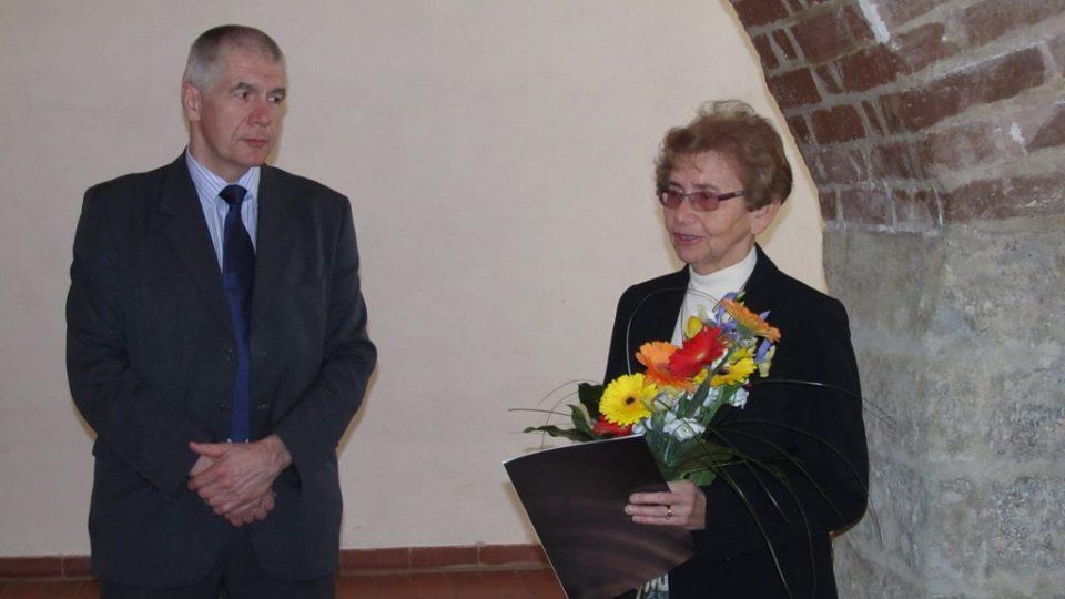 Dagmar Lieblová převzala z rukou starosty Ivo Šance čestné občanství