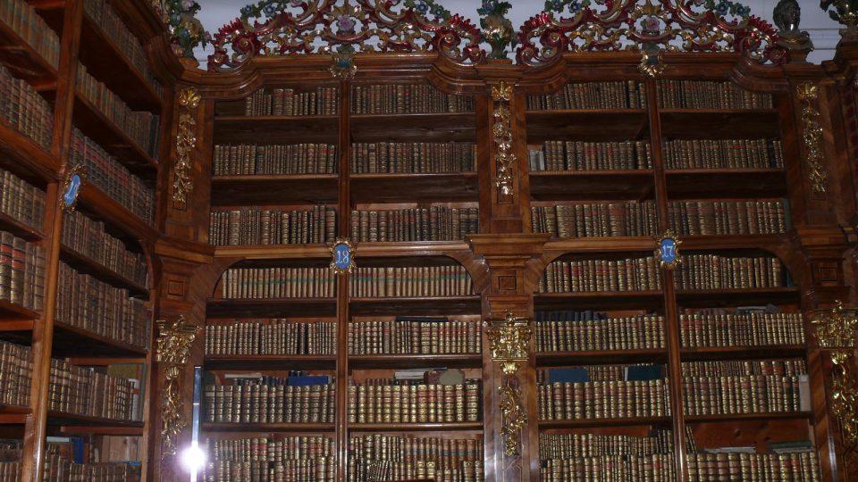Cisterciácká knihovna ve Vyšším Brodě.