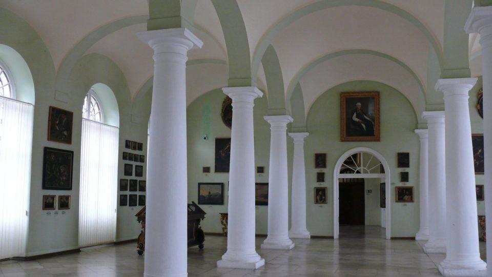 Obrazová galerie v klášteře Vyšší Brod.