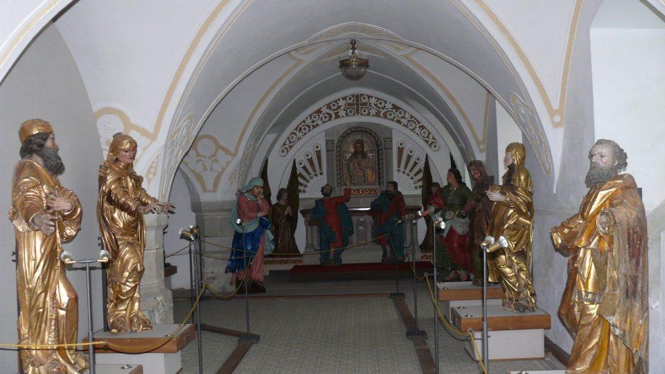 V galerii soch si prohlédnete výběr ze sbírek gotických, barokních a plastik kláštera.