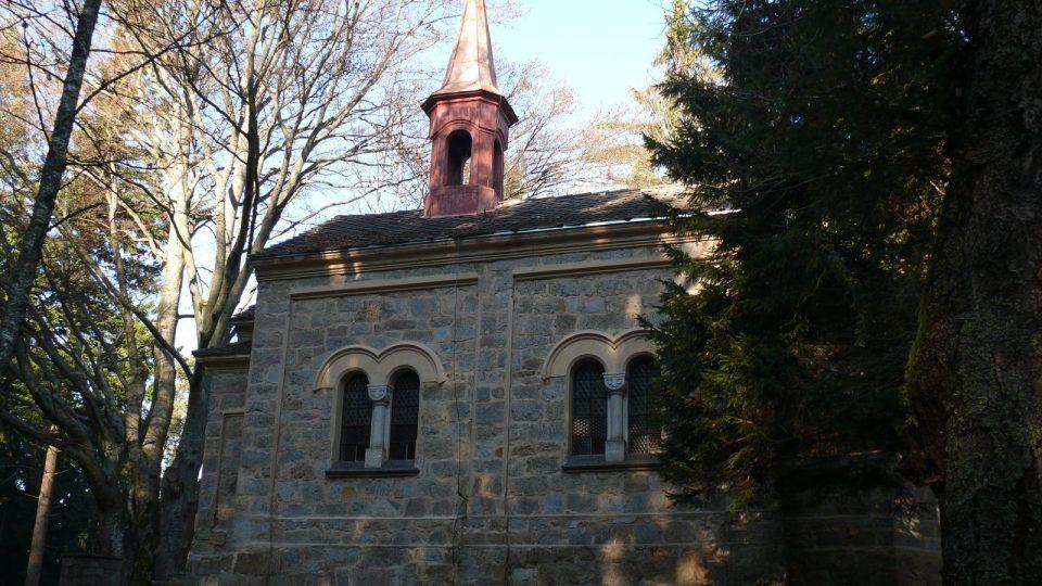 Kaple Panny Marie na Martínkovském vrchu.