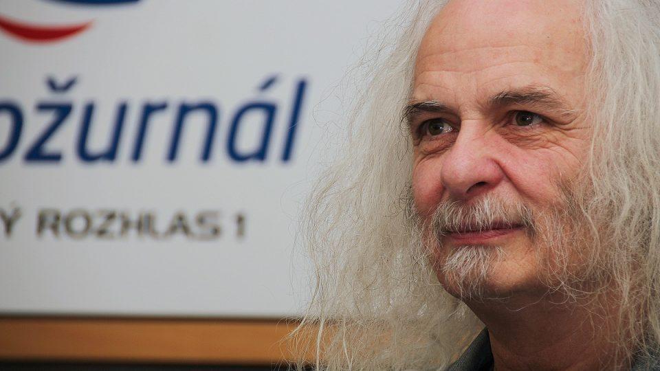 Josef Rauvolf krátce před začátkem rozhovoru