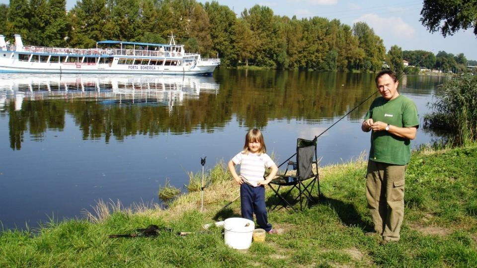 rybaření je třeba se učit odmala, fotka od Josefa Schorma