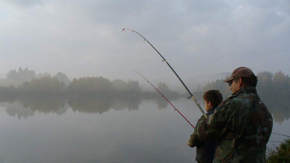 momentku z chytání ryb nám poslala Kamila Kočová