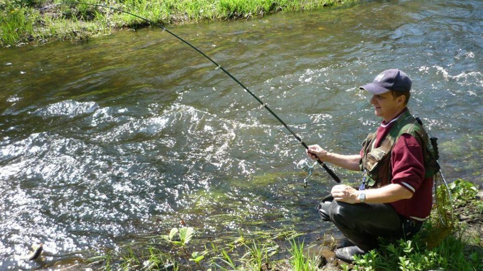 momentku z chytání ryb nám zaslal Michal Plecitý