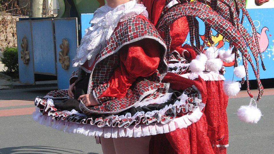 Karnevalová tanečnice z Aalstu