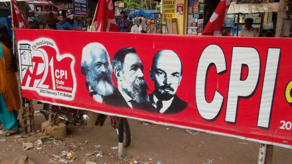 Marx, Engels a Lenin jsou v Kérale velmi populární