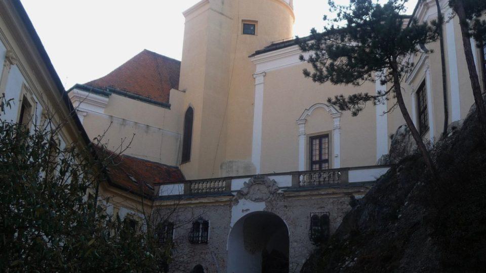 Věž mikulovského zámku na jižní Moravě