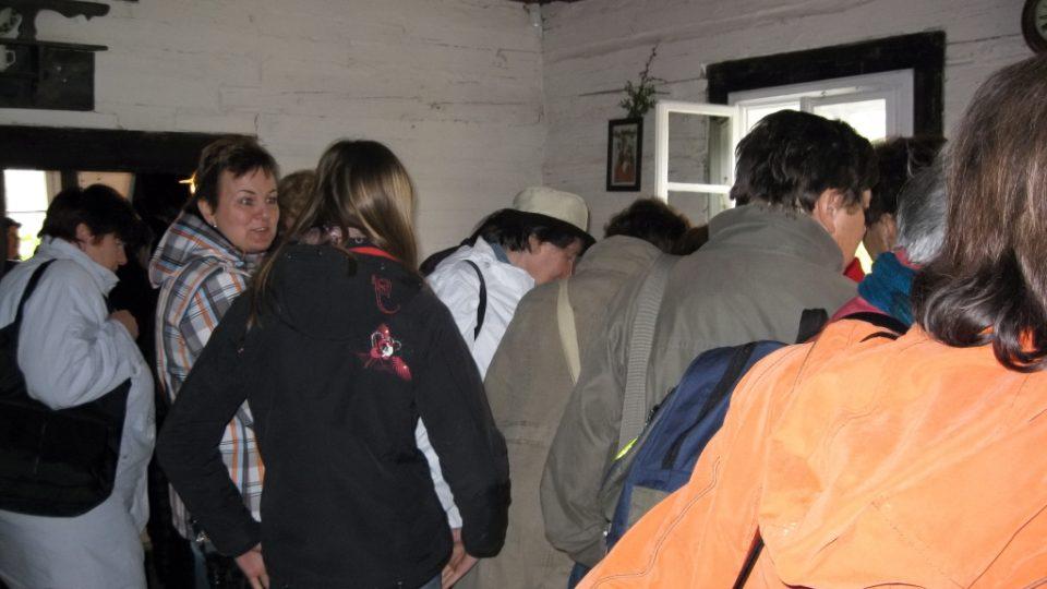 Návštěvníci skanzenu