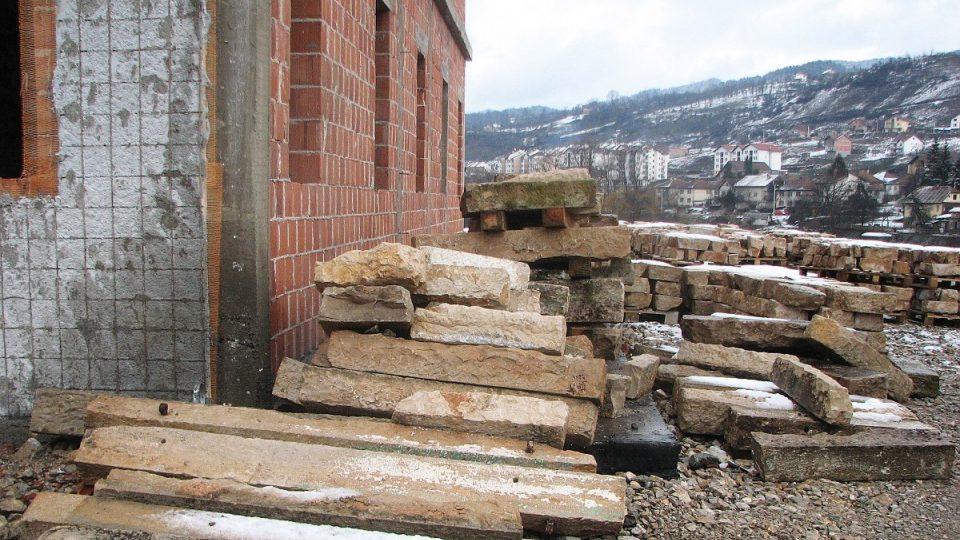 Obkladové kameny z Hercegoviny z okolí Mostaru