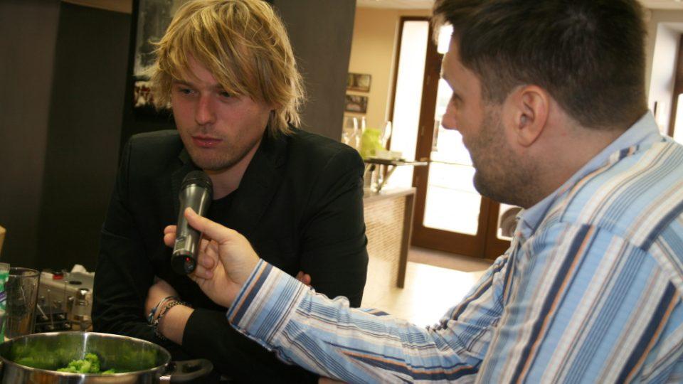 David Deyl a Patrik Rozehnal při rozhovoru