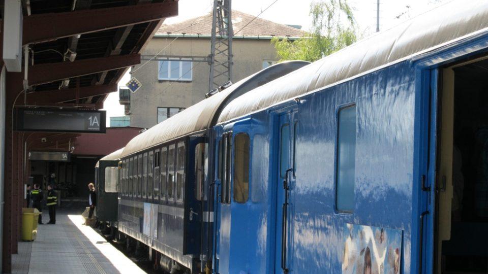 Preventivní vlak stojí na nádraží Českých drah v Kolíně