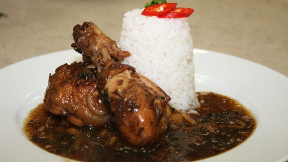 Kuře po quantungsku s rýží a zázvorem - detail