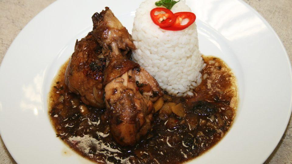 Kuře po quantungsku s rýží a zázvorem