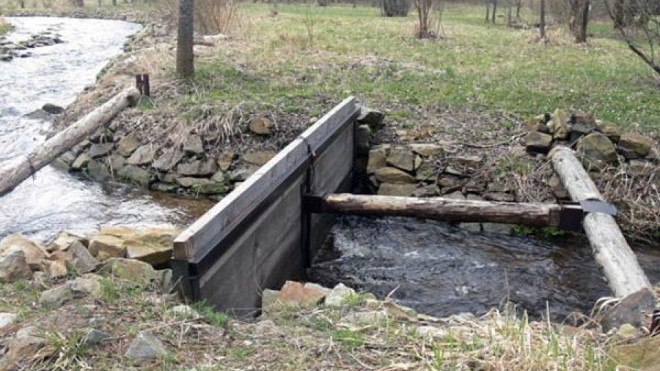 Chovná stanice na řece Blanici