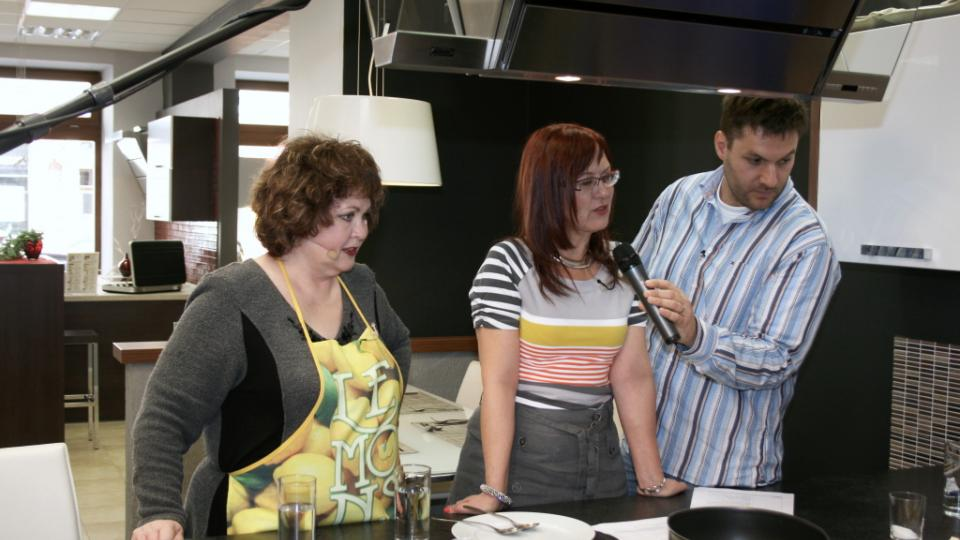 Naďa Konvalinková, Kateřina Cajthamlová a Patrik Rozehnal