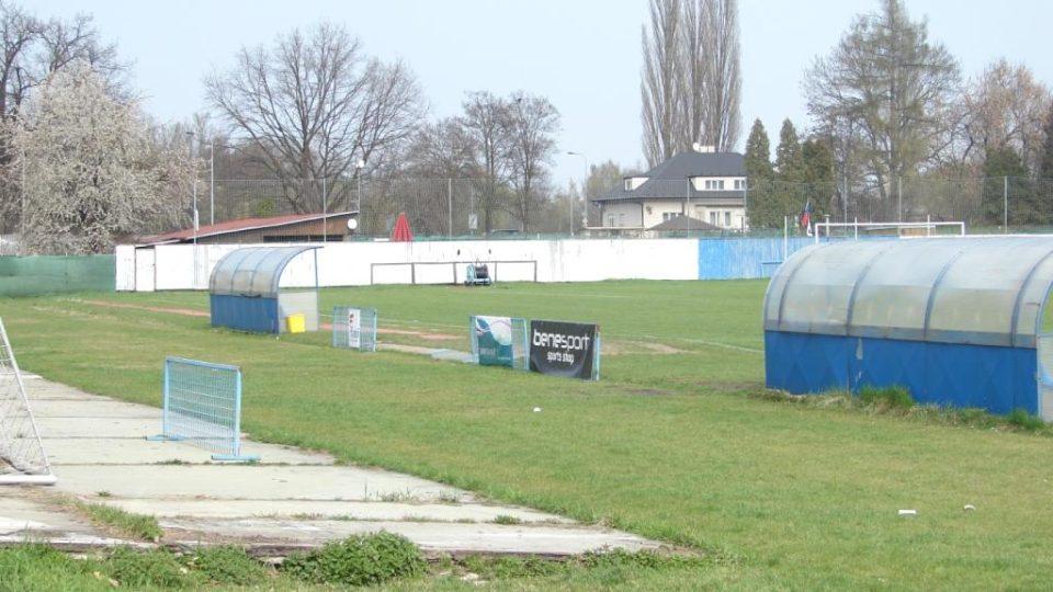 Dnešní podoba Letního fotbalového stadionu v Pardubicích