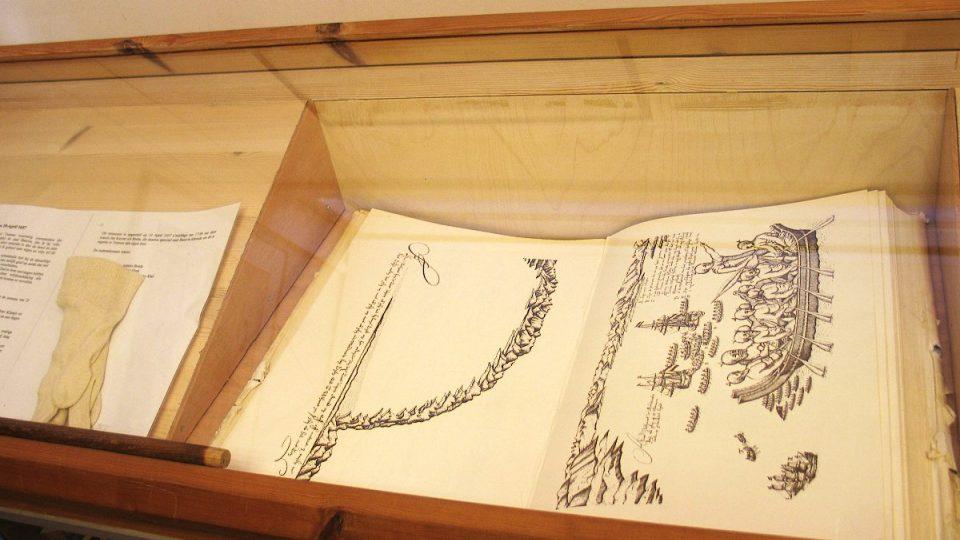 V muzeu nechybí ani Tasmanův lodní deník