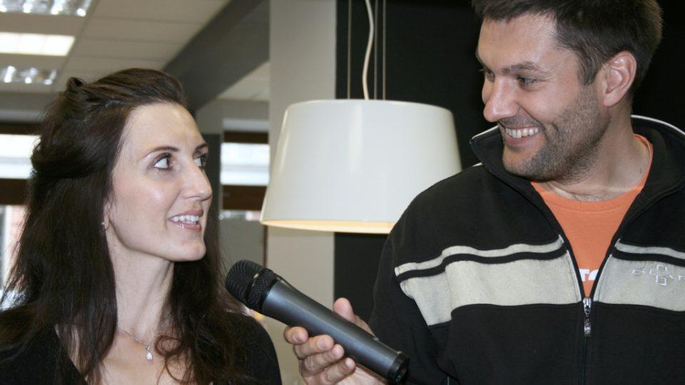 Radka Fišarová a Patrik Rozehnal při rozhovoru