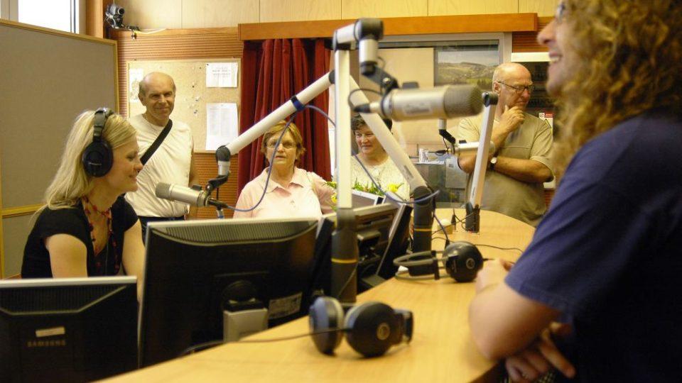Den otevřených dveří Českého rozhlasu Region - Tereza Stýblová za mikrofonem
