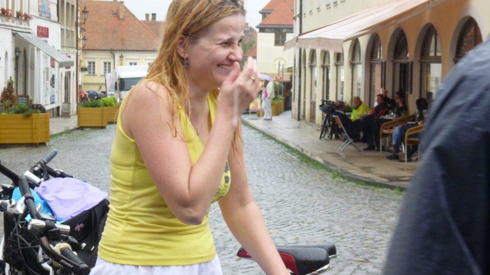 Účastníce cyklovýletu