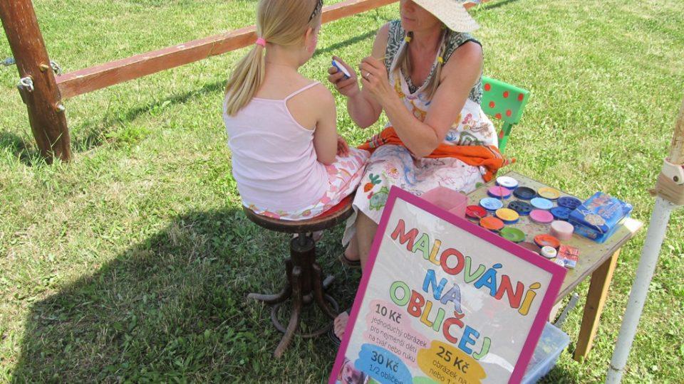 Atrakce pro děti - malování na tvář
