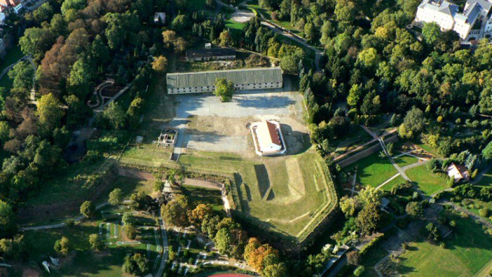 Areál bývalé olomoucké Korunní pevnůstky najdete v Bezručových sadech nedaleko centra města