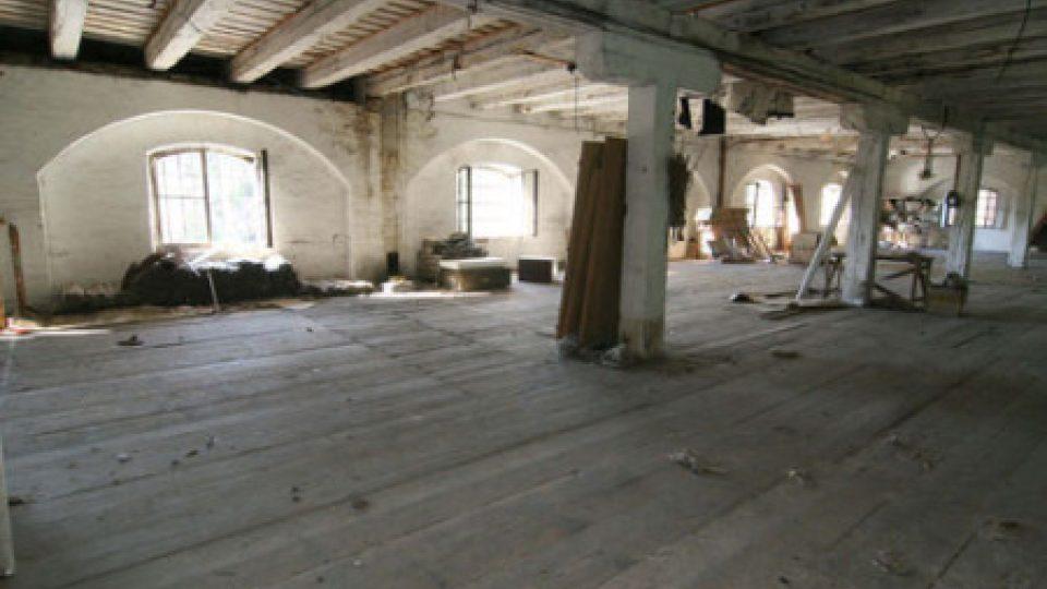 Interiér dělostřeleckého skladu Korunní pevnůstky v Olomouci