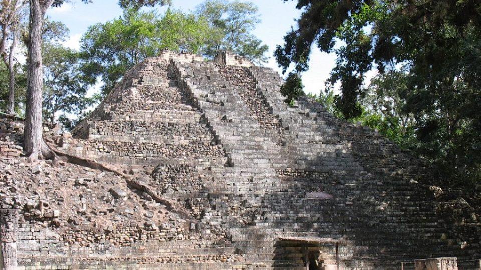 Mayské sídliště Copán v Hondurasu