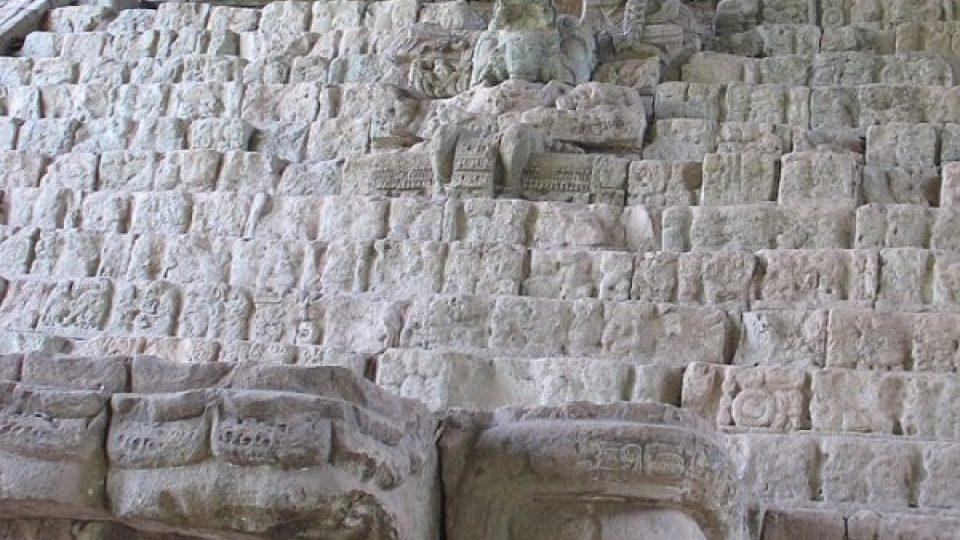 Ukázka mayských hieroglyfů
