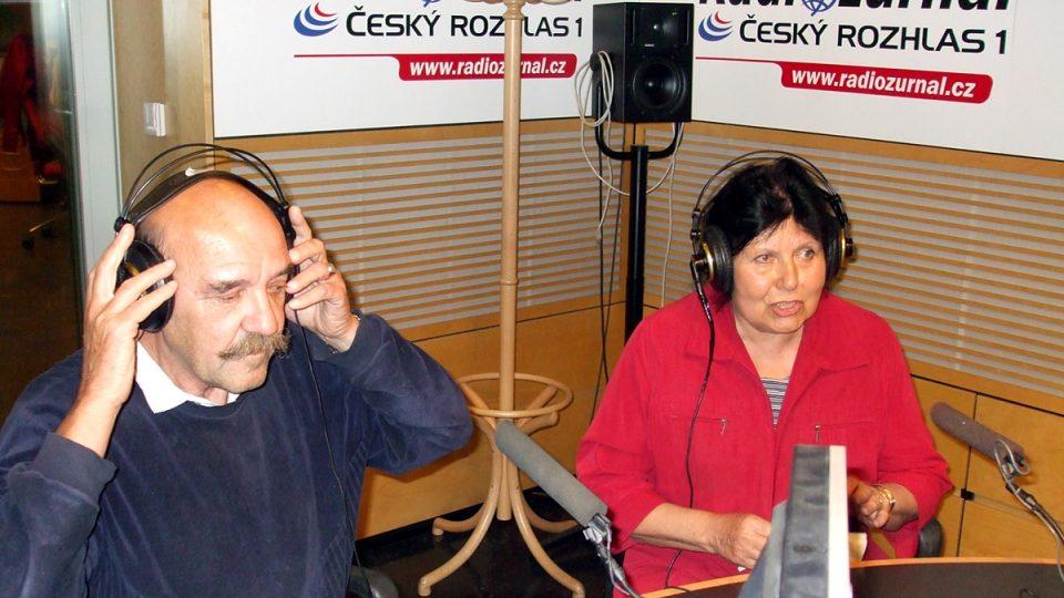 Bývalá vedúca redaktorka slovenskej redakcie Irena Novotná a bývalý správar Roman Mihina v máji 2008