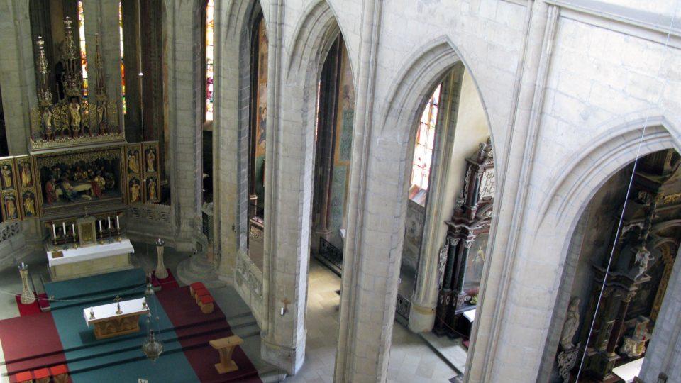 Pohled z empory chrámu sv. Barbory