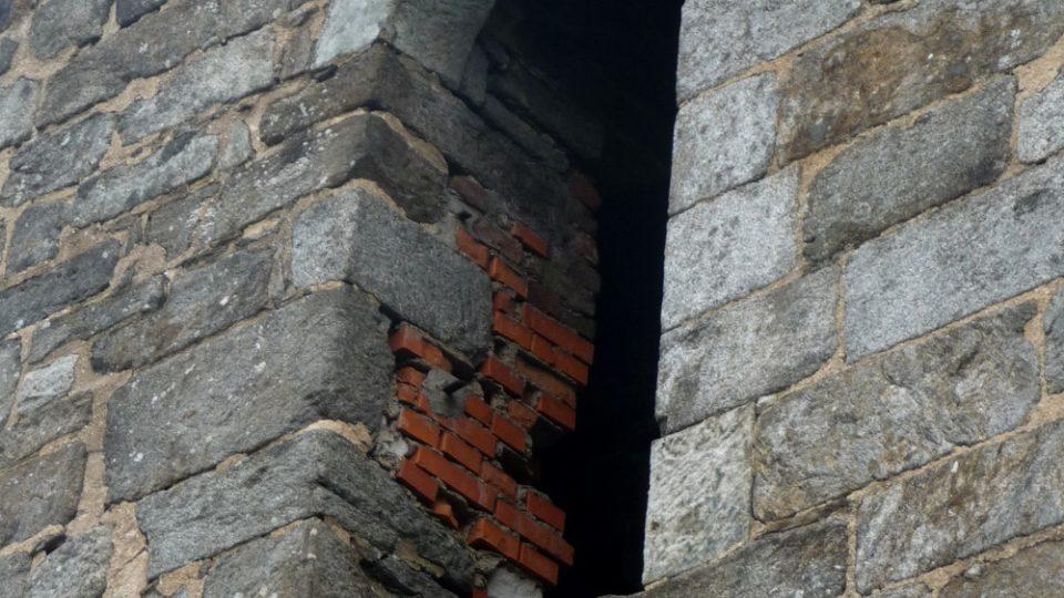 Někdejší vchod do hradu Přimda