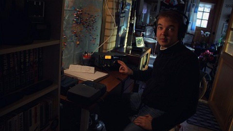 Jan-Mikael Nurmela ve své radiomístnosti