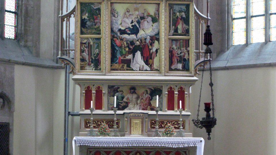 Oltářní retábl Nanebevzetí Panny Marie