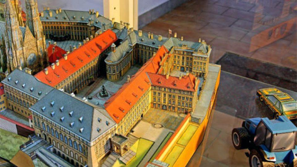 Můžete si tu prohlédnout také model Pražského hradu