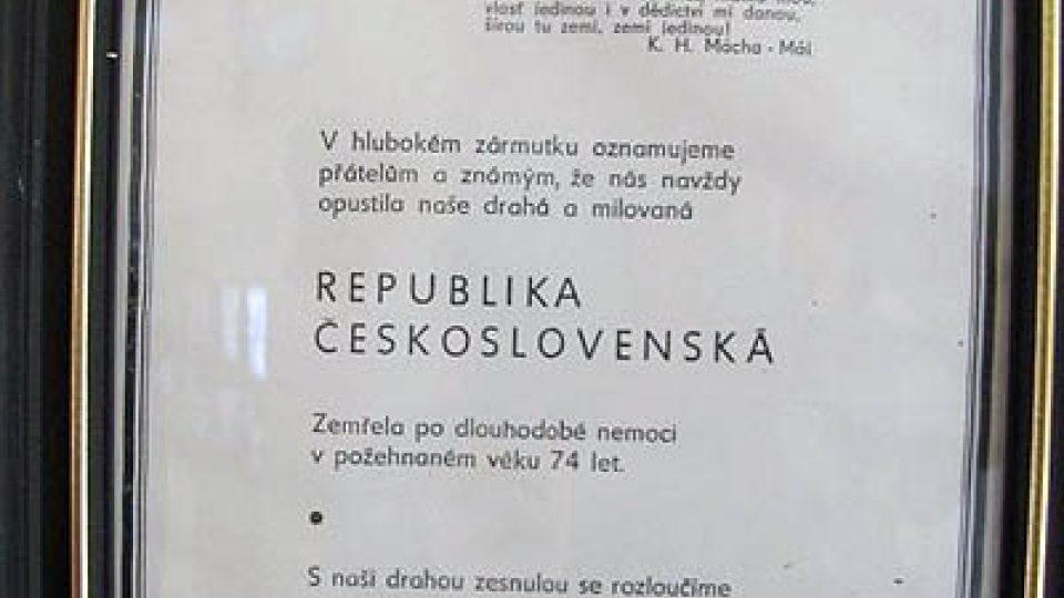 Parte Československa, které vytvořil Dušan Krivský