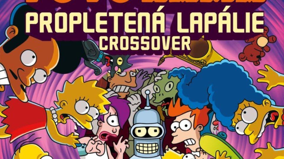 Obálka komiksu Simpsonovi Futurama - Propletená lapálie