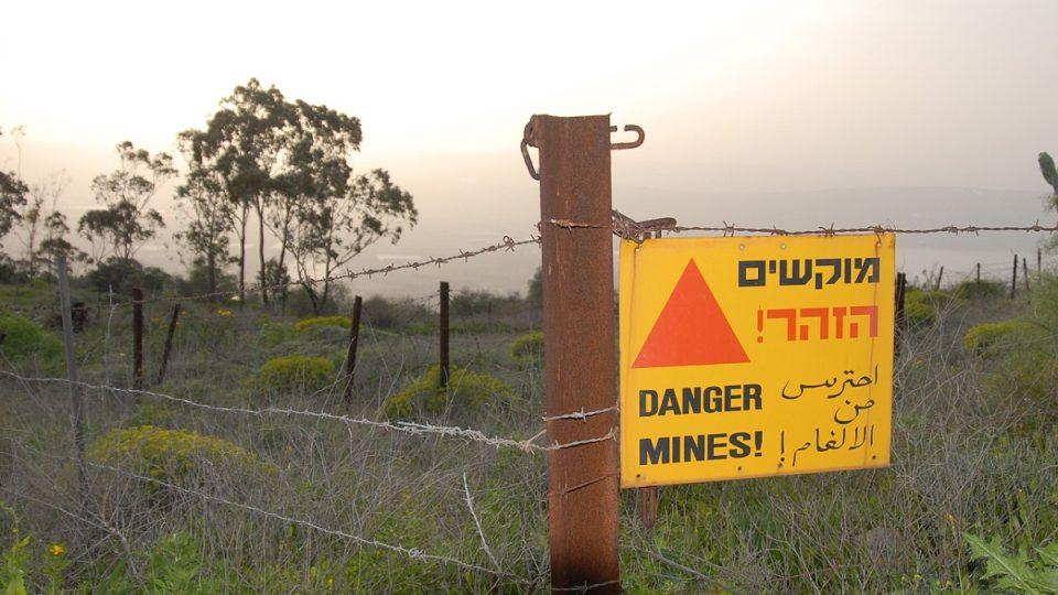 K připomínkám minulých válek patří na Golanech i minová pole