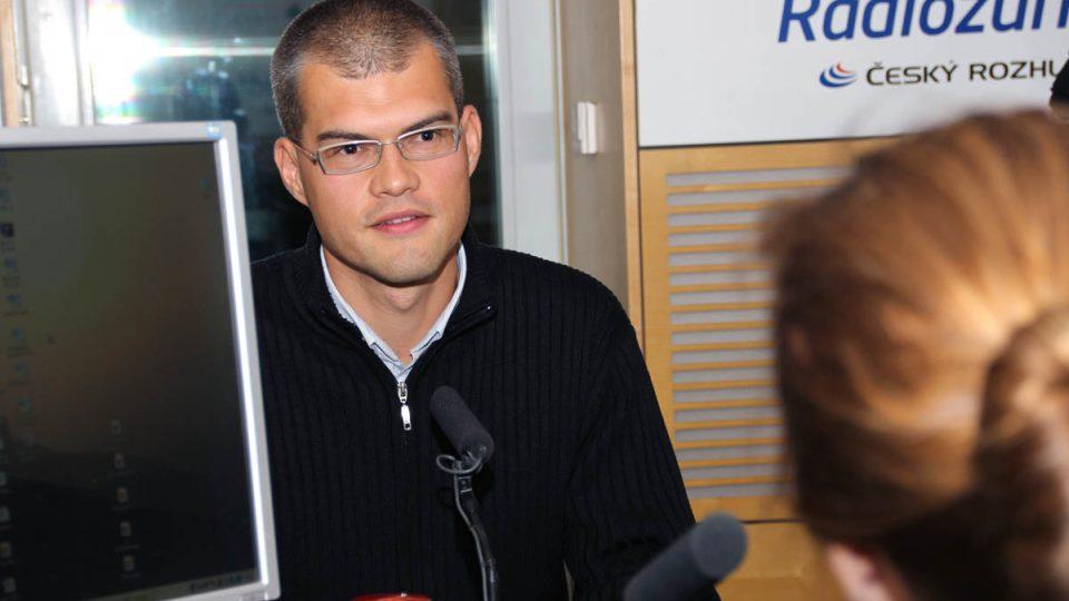 Tomáš Rychnovský byl hostem Radiožurnálu