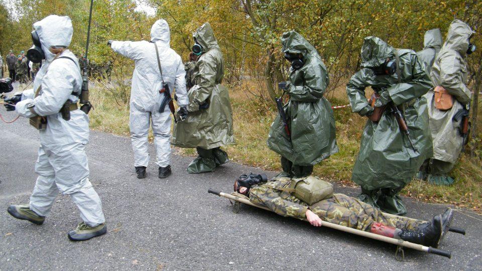 Cvičení vojenských chemiků z Liberce - Tisá