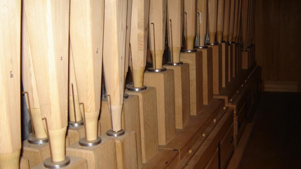 Humpolec - pohled k pedálovým píšťalám