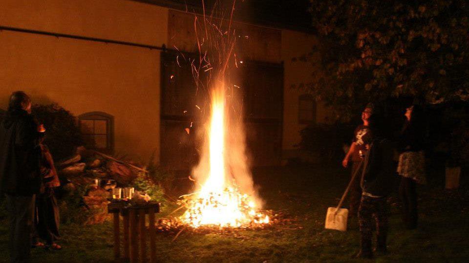 Oheň na akci v Osvračíně