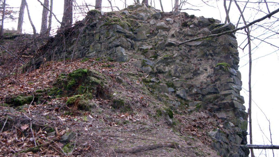 Výběr z fotografií hrádku Kozí Hřbet v prosinci 2008
