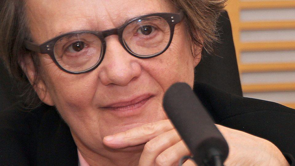 Agnieszka Holland během rozhovoru