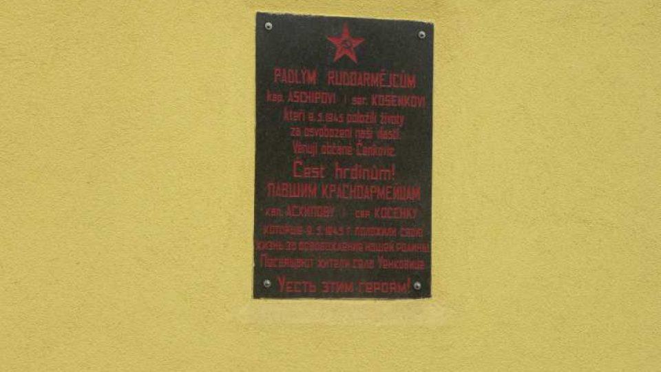Čenkovice - pamětní deska na obecním úřadě