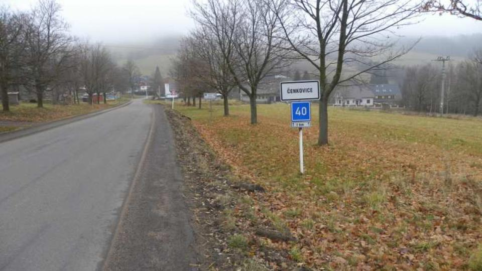 Čenkovice - vjezd do obce